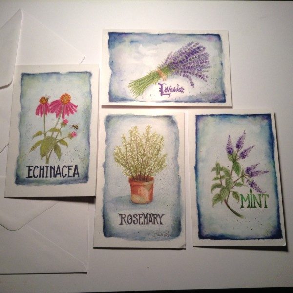 herbal note cards